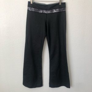 LULULEMON BLACK GREY WIDE LEG LEGGINGS 8